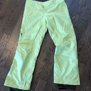 Burton AK pants lime green